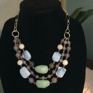 NEW Ocean Hues Beaded Necklace with ext.